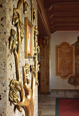 Lobby of Elisabeth hotel in Mayrhofen. Austria