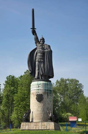 Monument to  Ilya Muromets in Murom. Russia Editorial