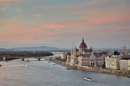Hungarian parliament building in Budapest. Hungary Editorial
