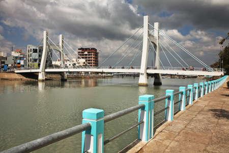 Tran Hung Dao bridge in Phan Thiet. Vietnam