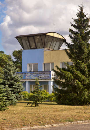 Torun-Bielany airport in Torun.  Poland Редакционное
