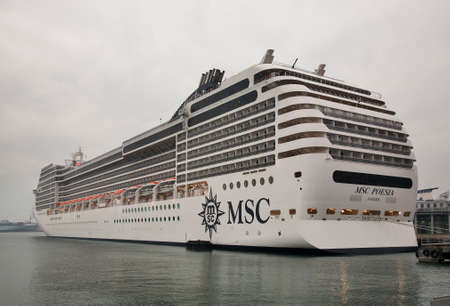 View of cruise ship MSC Poesia