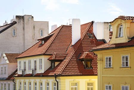 Fragment of street in Lesser Town - Mala Strana. Prague. Czech Republic