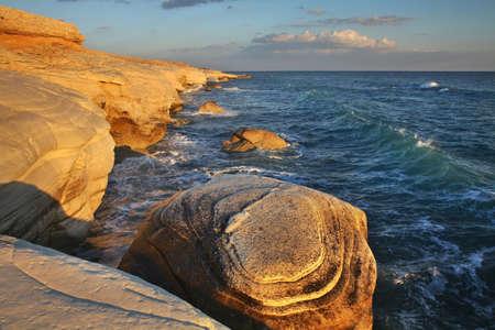White stones near Limassol. Cyprus