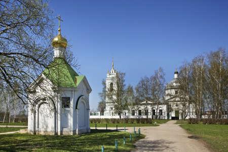 Chapel of Descent of Holy Spirit and Kazan church in Konstantinovo village. Ryazan oblast. Russia