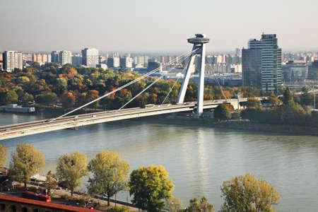 SNP (new) bridge in Bratislava. Slovakia Zdjęcie Seryjne