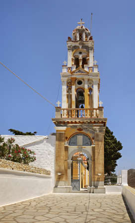 Ekklisia Evaggelistria church in Ano Symi. Greece