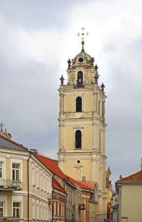 Belfry of church of Sts. John Baptist and John Evangelist in Vilnius. Lithuania