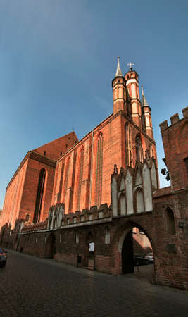 Church of Blessed Virgin Mary in Torun.  Poland Stock Photo
