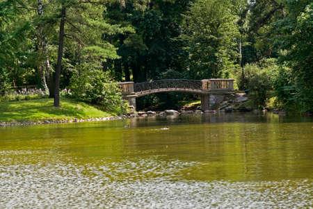 Bridge in Lazienki park in Warsaw. Poland
