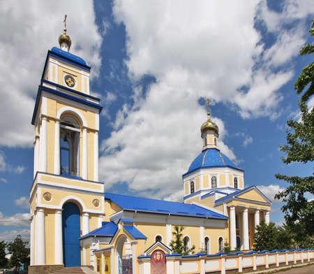 Church of Mother of God of Kazan in Borisoglebsk. Russia Foto de archivo