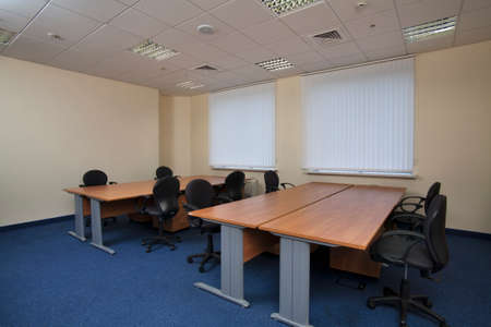 View of interiors of modern office building