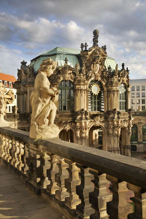 Pavilion in Zwinger Palace in Dresden. Germany