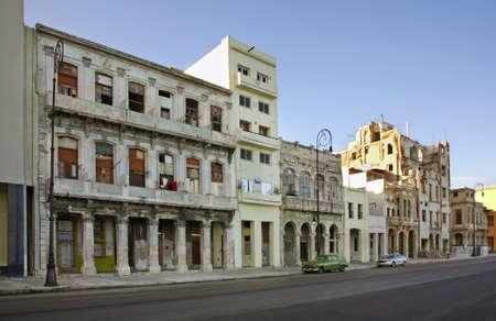 Malecon - Avenida de Maceo in Havana. Cuba Stock Photo