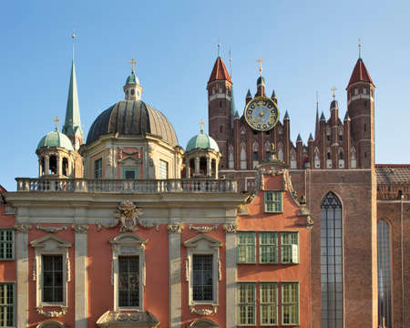 Royal Chapel and St. Mary's Church in Gdansk. Poland