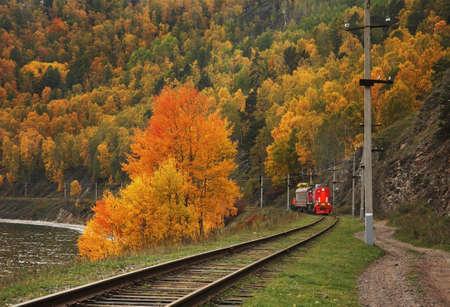 Circum-Baikal Railway near Port-Baikal settlement. Irkutsk oblast. English