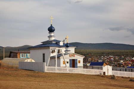Church of Reigning Icon of Mother of God in Khuzhir village. Olkhonsky district. Irkutsk oblast. Russia