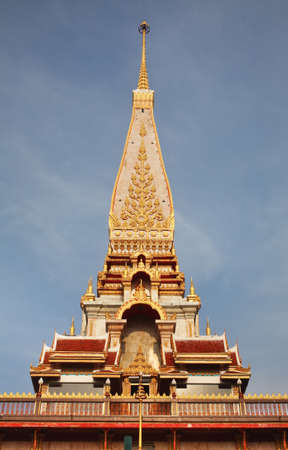 Wat Chalong (Wat Chaithararam) temple in Chalong subdistrict. Phuket province. Thailand