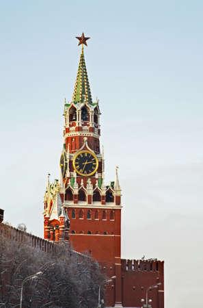 Spasskaya and Tsarskaya towers of the Moscow Kremlin. Russia