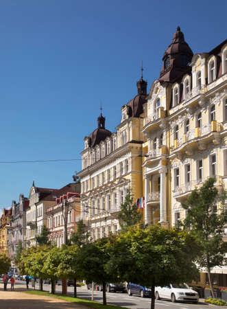 Main street in Marianske Lazne. Czech Republic