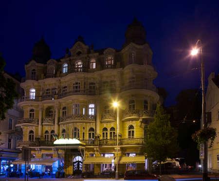 Hotel Bohemia at Main street in Marianske Lazne. Czech Republic
