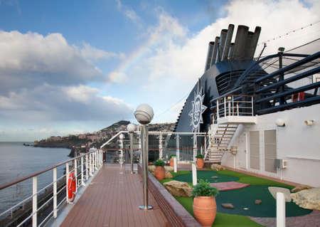 Cruise ship MSC Poesia in Santa Cruz de Tenerife. Canary Islands. Spain