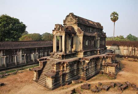 Library of Angkor Wat - Capital temple. Siem Reap province. Cambodia Фото со стока