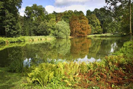 Belweder (Belwederski) pond in Warsaw. Poland