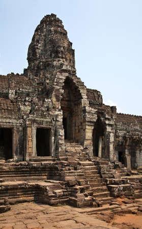 Prasat Bayon temple at Angkor Thom. Siem Reap province. Cambodia Фото со стока