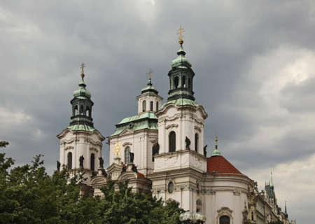 Church of St. Nicholas in Prague. Czech Republic
