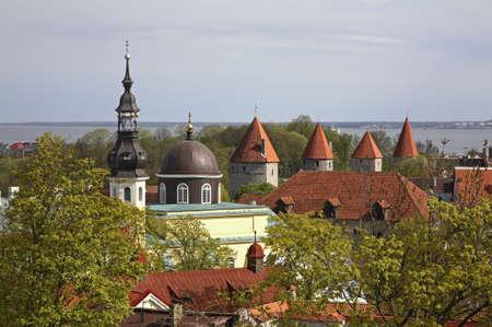 Panoramic view of Tallinn. Estonia
