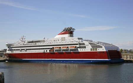 Ferry in Tallinn port. Estonia