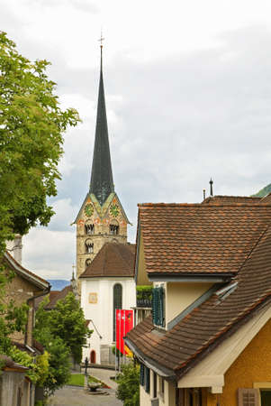 Church of Peter and Paul in Stans. Nidwalden. Switzerland 免版税图像