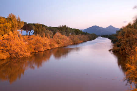 Landscape near Orosei. Province of Nuoro. Sardinia. Italy