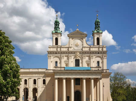 Cathedral of St. John the Baptist in Lublin. Poland