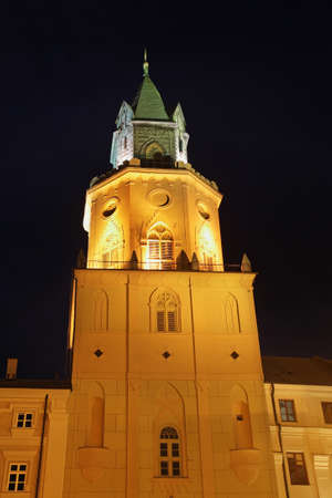Trinity (Trynitarska) tower in Lublin. Poland 免版税图像