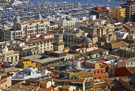 Panoramic view of Alicante. Spain