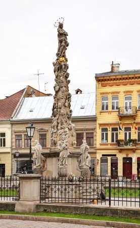 Plague column in Kosice. Slovakia