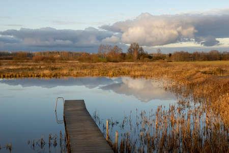 Landscape near Khutor Urala at Vidzeme region. Latvia