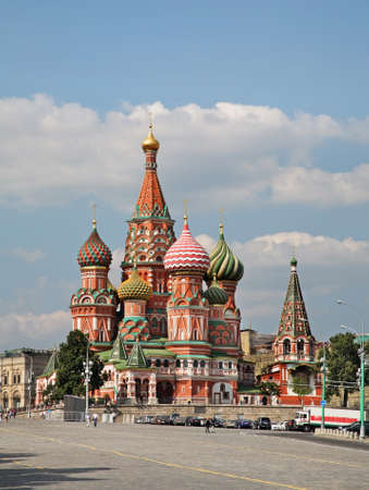 Cathedral of Saint Basil in Moscow. Russia