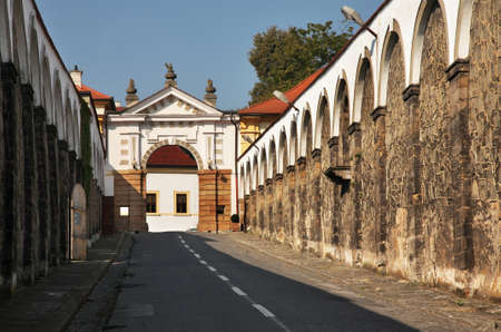 Way to Decin Castle - Dlouha Jizda street in Decin. Czech Republic