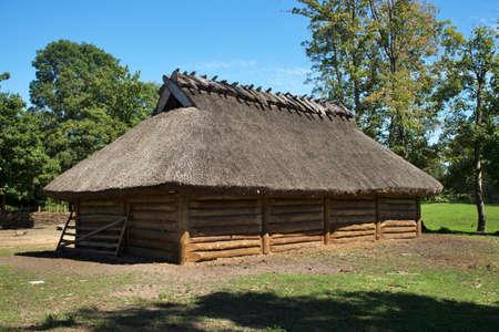 Historical settlement in Biskupin. Poland