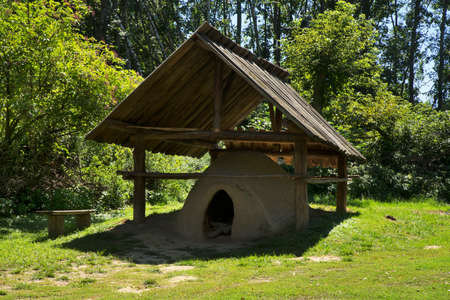 Ancient oven in Biskupin. Poland 新闻类图片