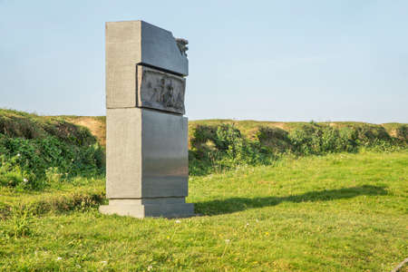 Monument to artillerymen at Raevsky battery at Borodino field near Borodino village. Russia