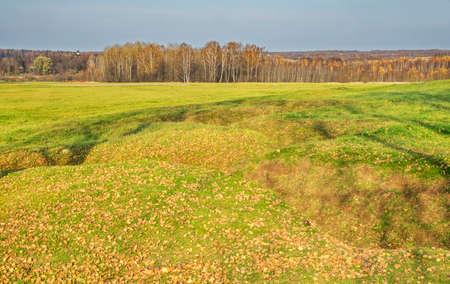 Defensive fighting position at Borodino field near Borodino village. Russia