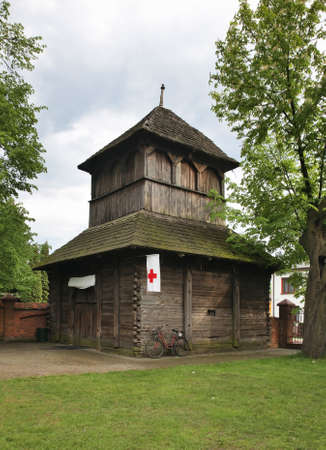 Wooden belfry in Parczew. Poland