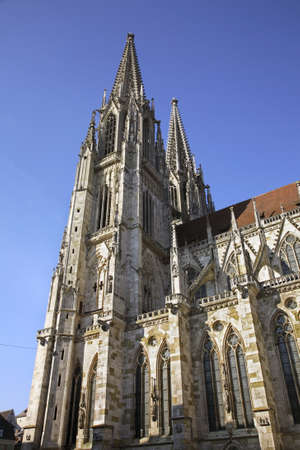 Church of St. Peter - Regensburg Cathedral in Regensburg. Bavaria. Germany