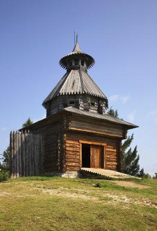 View of Khokhlovka village. Perm krai. Russia.