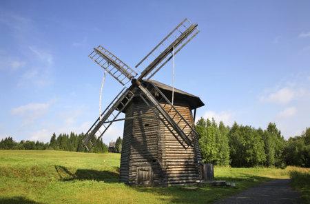 Windmill in Khokhlovka. Perm krai. Russia.