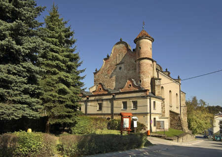 Synagogue in Lesko. Poland